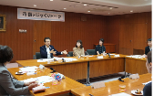 State that Mayor Akimoto and citizen talk about in meeting room
