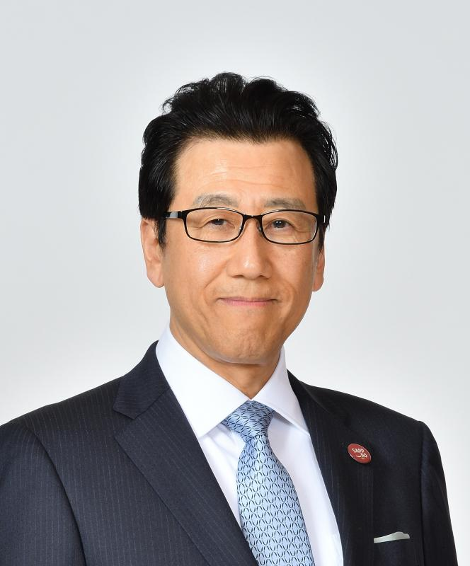Photograph of the face of Mayor Akimoto
