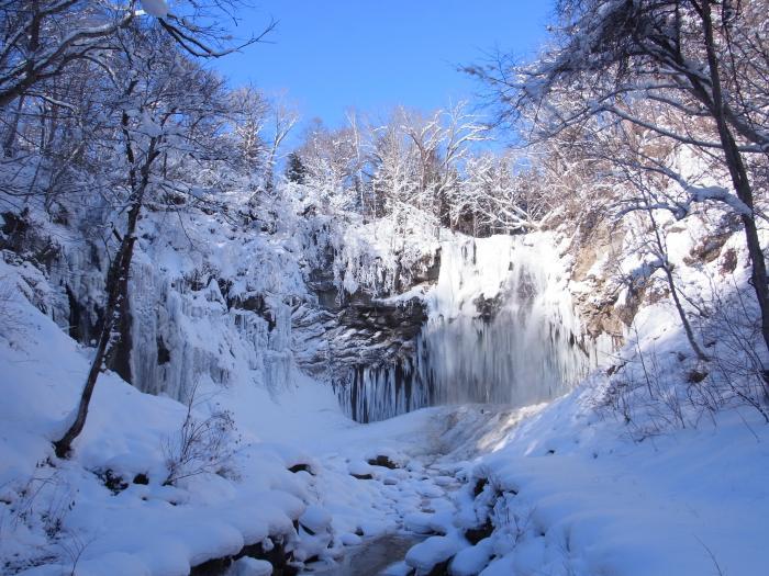 アシリベツの滝(氷瀑)/札幌市...