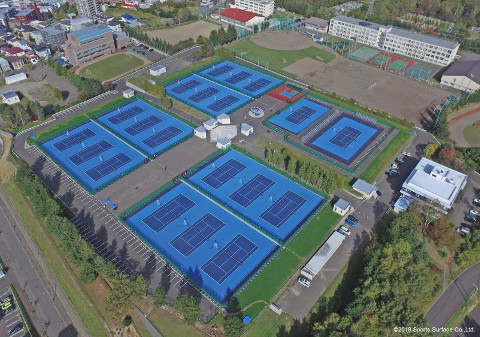 Aerial photograph of Hiragishi Tennis Courts